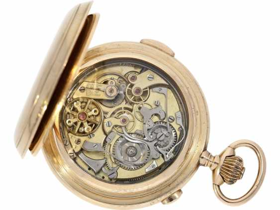 """Pocket watch: is particularly heavy, astronomical gold savonnette with 6 complications, including minute repetition, Le Phare """"Tempora"""", made for the Russian market, around 1900 - photo 2"""