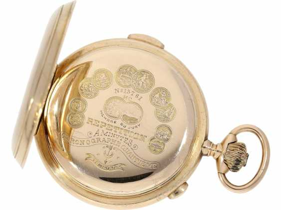 """Pocket watch: is particularly heavy, astronomical gold savonnette with 6 complications, including minute repetition, Le Phare """"Tempora"""", made for the Russian market, around 1900 - photo 3"""