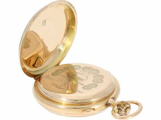 """Pocket watch: is particularly heavy, astronomical gold savonnette with 6 complications, including minute repetition, Le Phare """"Tempora"""", made for the Russian market, around 1900 - photo 4"""