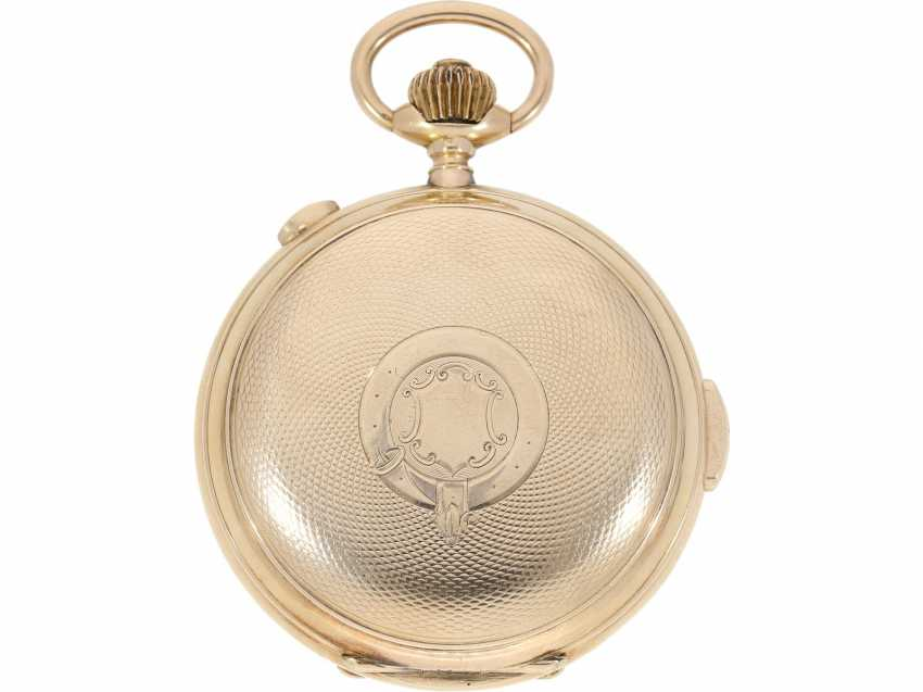 """Pocket watch: is particularly heavy, astronomical gold savonnette with 6 complications, including minute repetition, Le Phare """"Tempora"""", made for the Russian market, around 1900 - photo 5"""