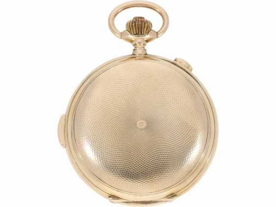 """Pocket watch: is particularly heavy, astronomical gold savonnette with 6 complications, including minute repetition, Le Phare """"Tempora"""", made for the Russian market, around 1900 - photo 6"""