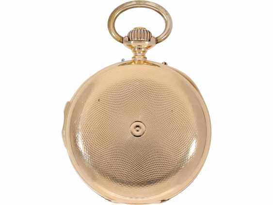 Pocket watch: very fine red-gold Savonnette minute repeater, Louis Audemars, No. 21490, CA. 1895 - photo 3