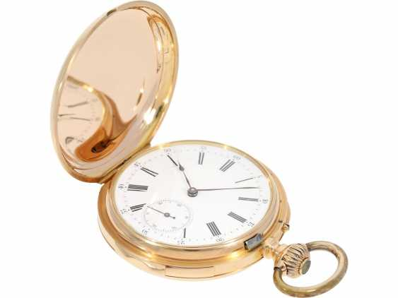 Pocket watch: very fine red-gold Savonnette minute repeater, Louis Audemars, No. 21490, CA. 1895 - photo 7