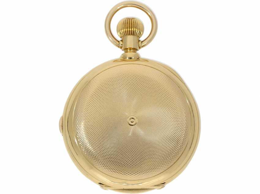 Taschenuhr: bedeutende, schwere, hochkomplizierte Goldsavonnette mit Grande Sonnerie Carillon und Minutenrepetition Carillon nach Patent.7832, Schwob Frères, La Chaux-De-Fonds/ Louis Brandt & Brother, No. 43773, ac 1895 - photo 3