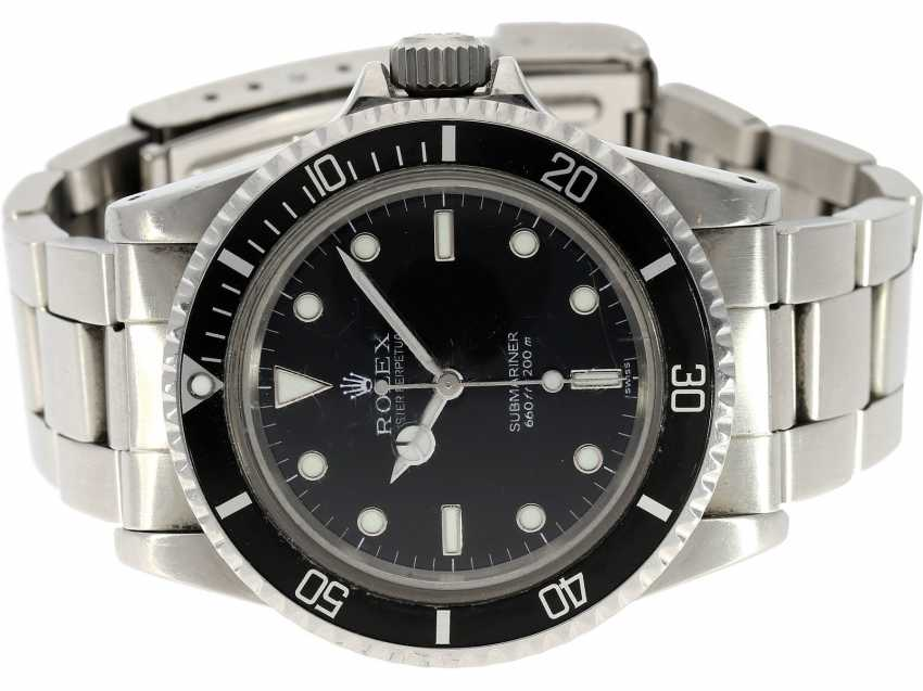 "Watch: a very sought-after dive watch, Rolex Submariner ""NO DATE"" 660ft/200m, Ref. 5513, CA. 1983/84 - photo 1"