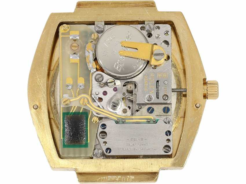 Watch: extremely rare 18K Gold Rolex oyster quartz Ref. 5100, No. 596, tuning fork factory, about 1970 - photo 2