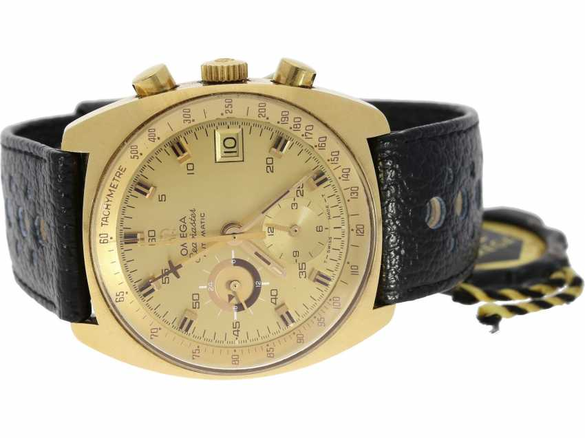 Watch: Omega-rarity, one of the most rare Seamaster chronograph, Ref. 176.007 in solid 18K Gold, never gone into series, built in 1972! - photo 1