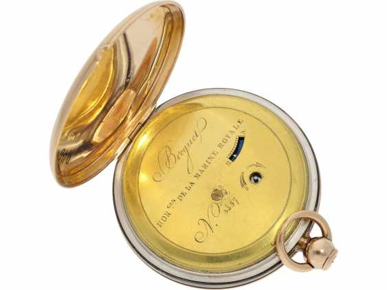 Pocket watch: very fine Breguet repeater watch with a very rare caliber, exceptional rose gold watch case and a secret signature, No. 3457, sold at 23. In March 1820 he wrote to Monsieur Jouli Limendeux, with Breguet certificate - photo 3