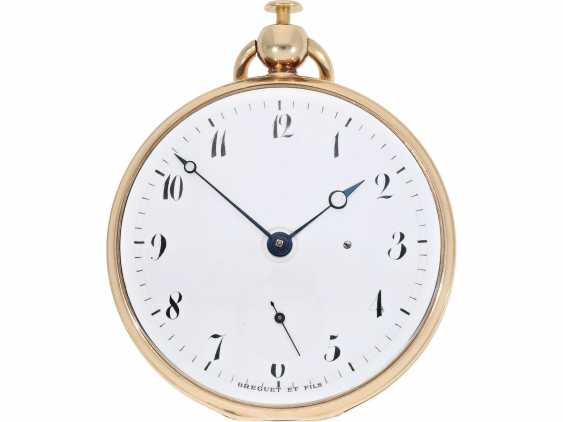 Pocket watch: very fine Breguet repeater watch with a very rare caliber, exceptional rose gold watch case and a secret signature, No. 3457, sold at 23. In March 1820 he wrote to Monsieur Jouli Limendeux, with Breguet certificate - photo 5
