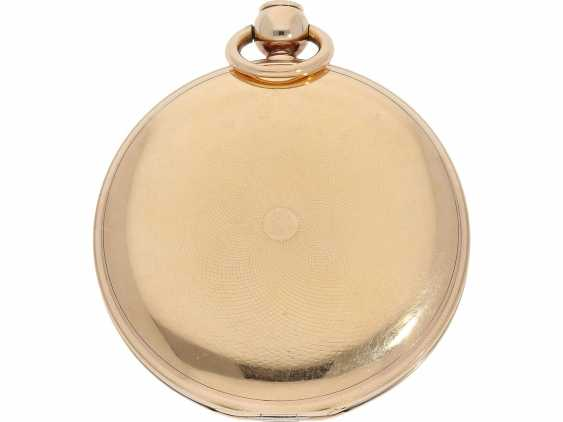 Pocket watch: very fine Breguet repeater watch with a very rare caliber, exceptional rose gold watch case and a secret signature, No. 3457, sold at 23. In March 1820 he wrote to Monsieur Jouli Limendeux, with Breguet certificate - photo 6