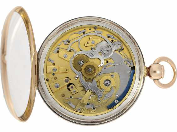 Pocket watch: very fine Breguet repeater watch with a very rare caliber, exceptional rose gold watch case and a secret signature, No. 3457, sold at 23. In March 1820 he wrote to Monsieur Jouli Limendeux, with Breguet certificate - photo 7