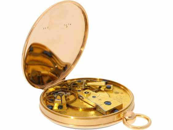 Pocket watch: a Museum, Breguet Souscription with secret signature, No. 1474/913, sold to Freres Chaudoirs on 1.1.1805 - photo 7