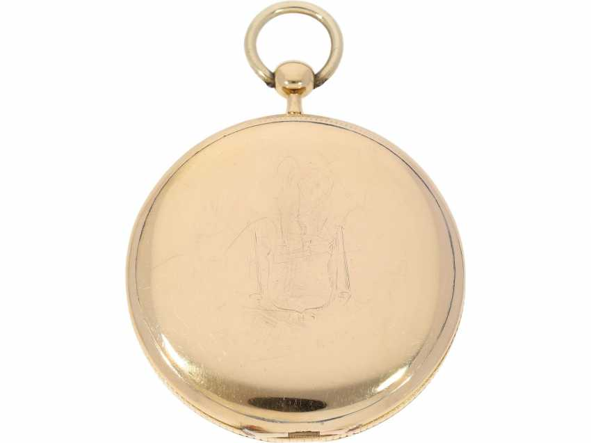 Pocket watch: an important, very fine French pocket watch with ruby cylinder Breguet, possibly made in the workshops Breguet, Breguet students Hauchar No. 104/2649, CA. 1810 - photo 2