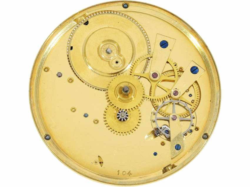 Pocket watch: an important, very fine French pocket watch with ruby cylinder Breguet, possibly made in the workshops Breguet, Breguet students Hauchar No. 104/2649, CA. 1810 - photo 4