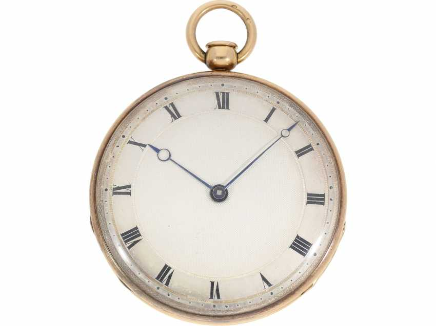 Pocket watch: very fine red-gold Lepine with ruby cylinder Breguet and Repetition, signed Petit a Paris No. 3479/981, CA. 1810 - photo 1