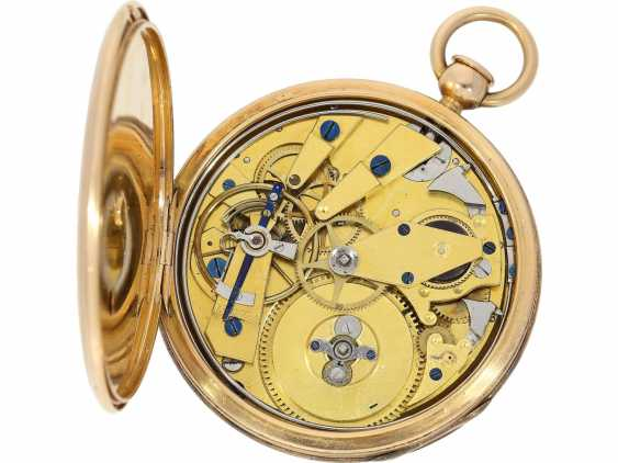Pocket watch: very fine red-gold Lepine with ruby cylinder Breguet and Repetition, signed Petit a Paris No. 3479/981, CA. 1810 - photo 3