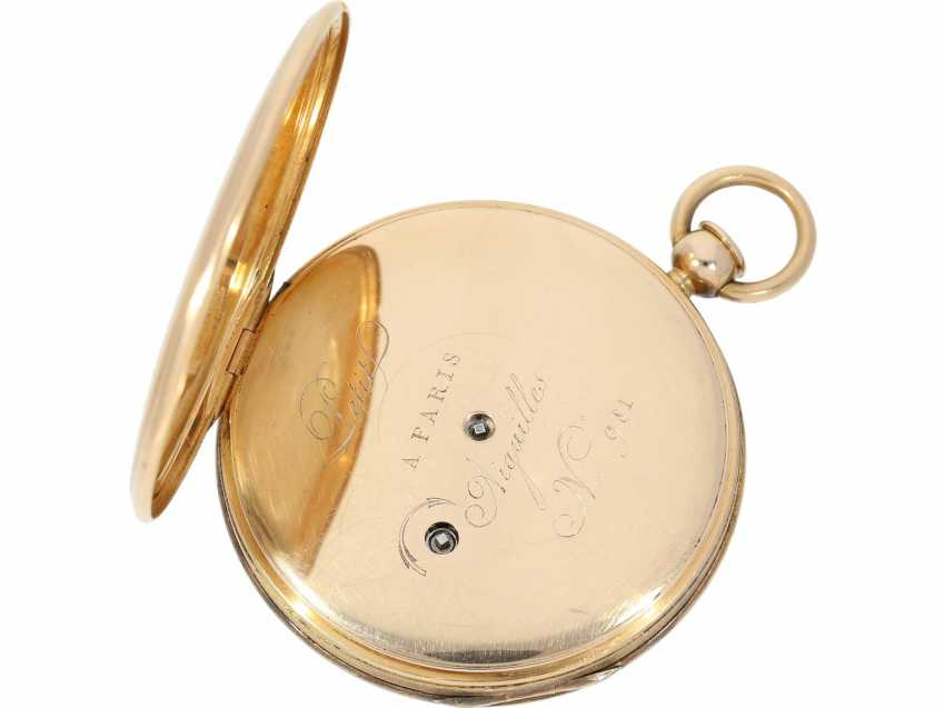 Pocket watch: very fine red-gold Lepine with ruby cylinder Breguet and Repetition, signed Petit a Paris No. 3479/981, CA. 1810 - photo 4