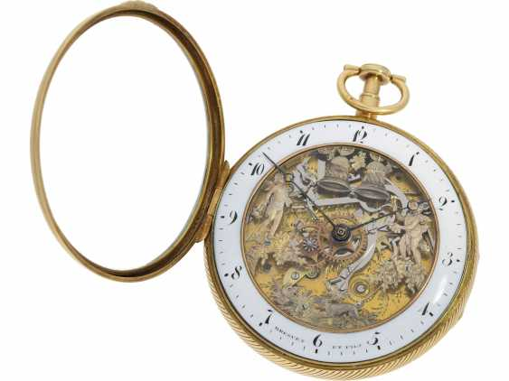 Pocket watch: figure automaton Jacquemart of particularly high-quality execution, and the Museum state of preservation, signed Breguet et Fils, Paris, CA. 1820 - photo 4