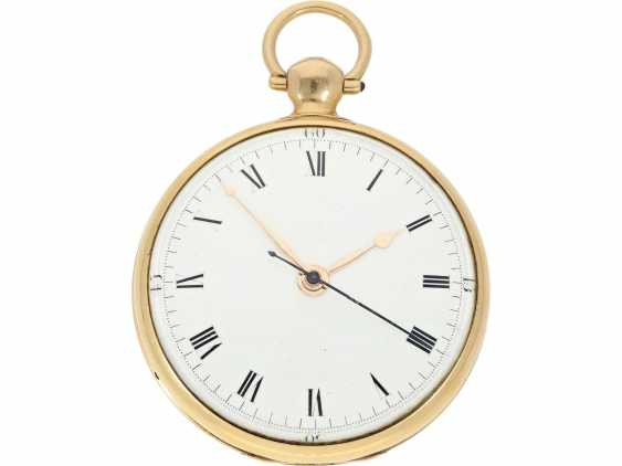 Pocket watch: rarity, extremely rare English Chronometer, made for the Chinese market, William Eley London No. 1816, Hallmarks London 1815 - photo 1