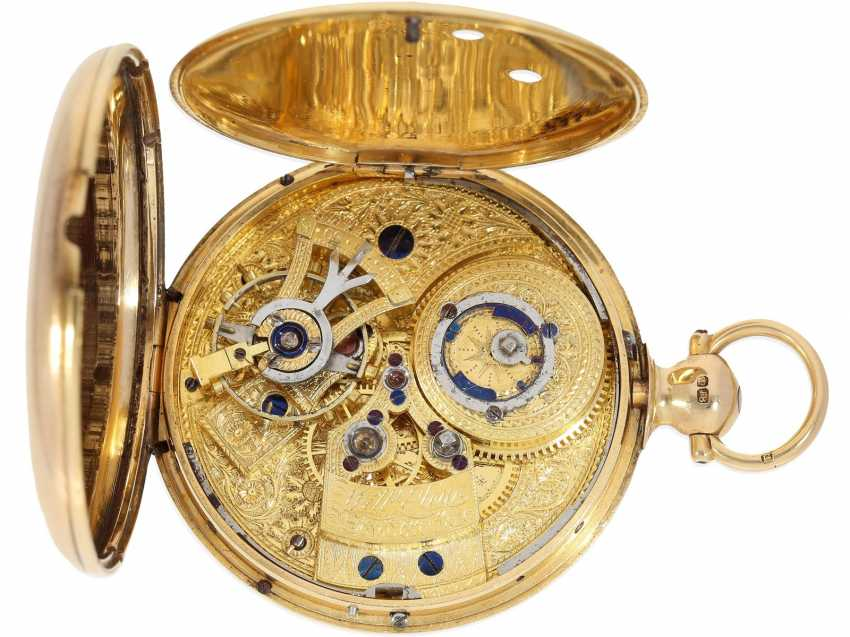 Pocket watch: rarity, extremely rare English Chronometer, made for the Chinese market, William Eley London No. 1816, Hallmarks London 1815 - photo 4