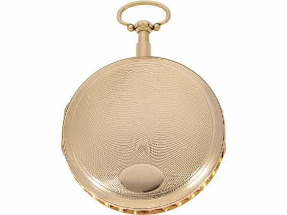 Pocket watch: extremely heavy and extremely high-quality 18K Gold Grande Sonnerie clock watch, Meuron et Comp. Geneve No. 11089, CA. 1820 - photo 2