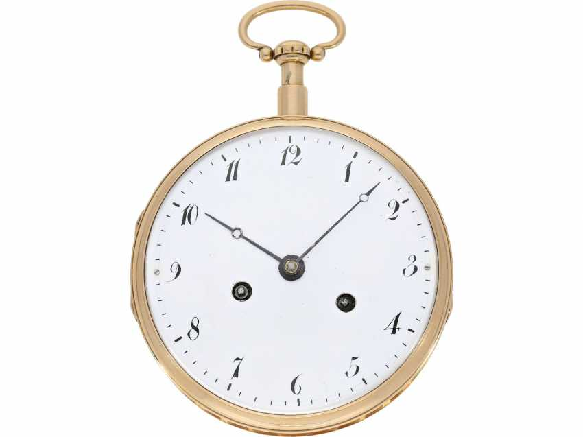 Pocket watch: extremely heavy and extremely high-quality 18K Gold Grande Sonnerie clock watch, Meuron et Comp. Geneve No. 11089, CA. 1820 - photo 3