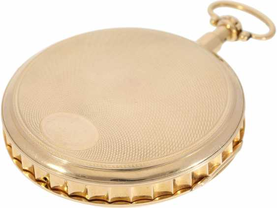 Pocket watch: extremely heavy and extremely high-quality 18K Gold Grande Sonnerie clock watch, Meuron et Comp. Geneve No. 11089, CA. 1820 - photo 5