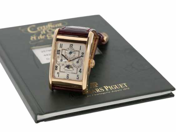 "Watch: sophisticated rectangular, 18K pink gold gentleman's wristwatch Audemars Piguet ""Edward Piguet Perpetual Calendar"" Ref. 25799OR, with original box and original papers - photo 4"