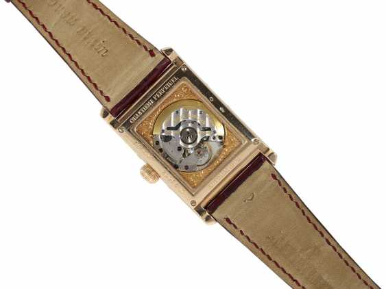 "Watch: sophisticated rectangular, 18K pink gold gentleman's wristwatch Audemars Piguet ""Edward Piguet Perpetual Calendar"" Ref. 25799OR, with original box and original papers - photo 6"