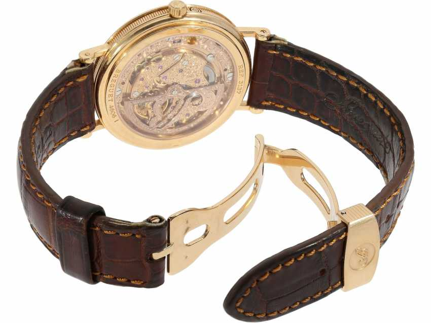 """Watch: a complicated astronomic 18K pink gold gentleman's wristwatch """"Breguet Classique moon phase Power Reserve"""" Ref.3137, with original box and original papers, from the year 2000 - photo 2"""