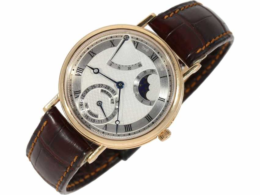 """Watch: a complicated astronomic 18K pink gold gentleman's wristwatch """"Breguet Classique moon phase Power Reserve"""" Ref.3137, with original box and original papers, from the year 2000 - photo 3"""