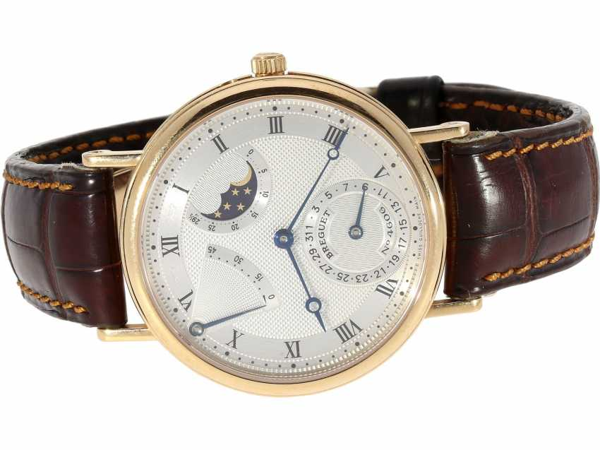 """Watch: a complicated astronomic 18K pink gold gentleman's wristwatch """"Breguet Classique moon phase Power Reserve"""" Ref.3137, with original box and original papers, from the year 2000 - photo 4"""