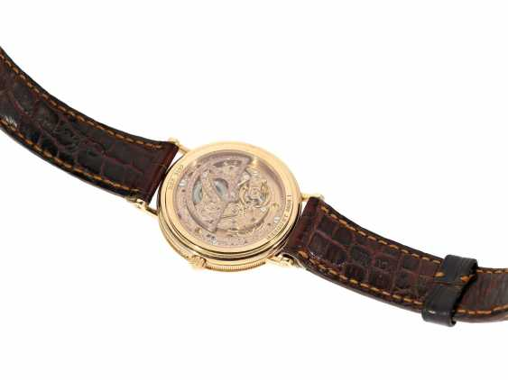 """Watch: a complicated astronomic 18K pink gold gentleman's wristwatch """"Breguet Classique moon phase Power Reserve"""" Ref.3137, with original box and original papers, from the year 2000 - photo 5"""