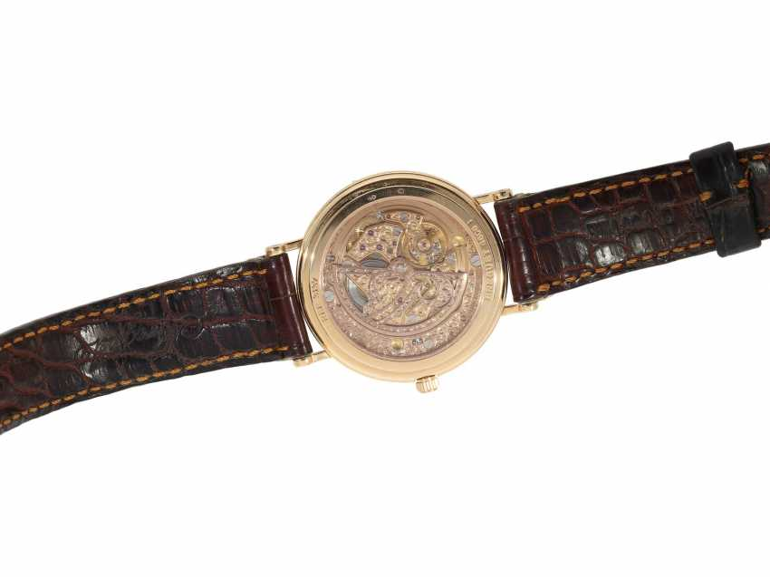 """Watch: a complicated astronomic 18K pink gold gentleman's wristwatch """"Breguet Classique moon phase Power Reserve"""" Ref.3137, with original box and original papers, from the year 2000 - photo 6"""