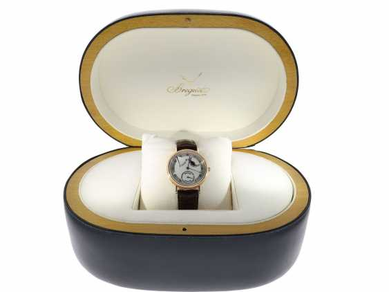 """Watch: a complicated astronomic 18K pink gold gentleman's wristwatch """"Breguet Classique moon phase Power Reserve"""" Ref.3137, with original box and original papers, from the year 2000 - photo 8"""