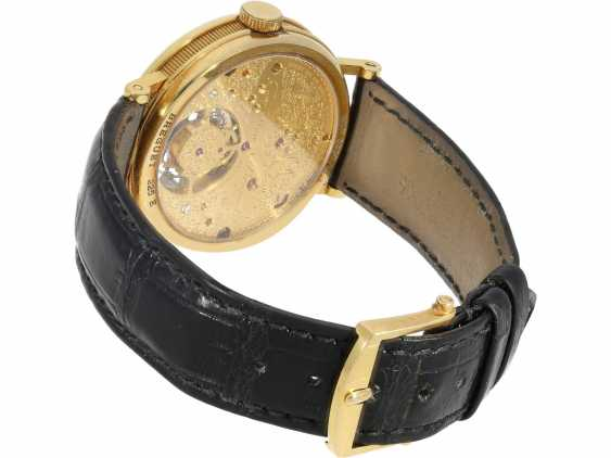 """Watch: exceptional and very high quality 18K yellow Gold gentleman's wristwatch """"Breguet Tourbillon, Ref.3350 BA 12 286"""", No. 225 E, from the year 1993, with Box & papers - photo 3"""