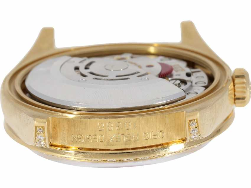 Watch: luxury 18K Gold Rolex Day-Date Ref. 18388, with original diamonds, original papers and service document, 2015, LC100, from the year 1995, condition as NEW! - photo 7