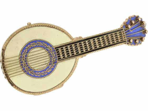 "Anhängeuhr/Formuhr: Gold/enamel Formuhr of outstanding quality, the ""Neapolitan mandolin"", Paris, 1830, cf. the collection of Sandberg p. 446-447 - photo 3"