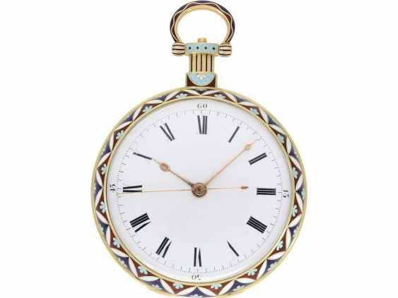 "Pocket watch: fine Gold/enamel pocket watch for the Chinese market, Bovet, ""The Butterfly"" No. 426, CA. 1830 - photo 4"