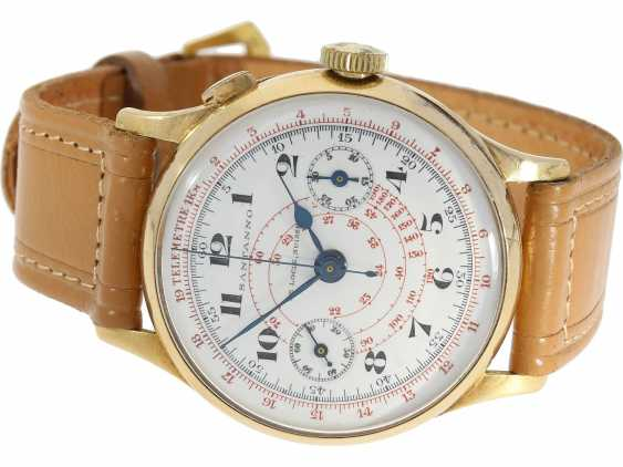 Watch: a unique, large Chronograph with a relief enclosure, made on the occasion of the jubilee year in 1933, Pope Pius XI, in Relief of Huguenin, Henry Moser, No. 8271, CA. 1933 - photo 3
