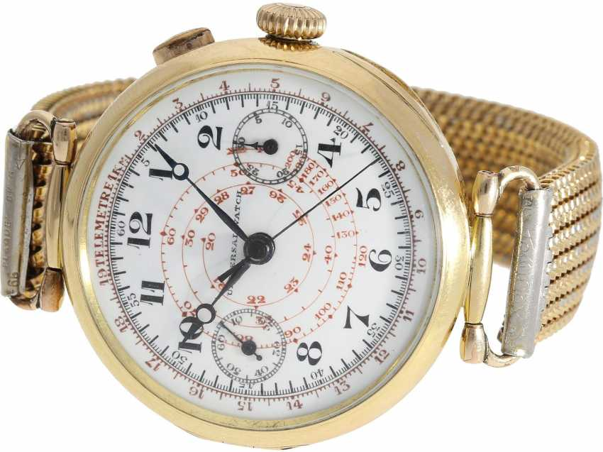 "Watch: very rare, very early, ""oversize 39mm"" Chronograph with enamel dial, Universal Geneve, CA. 1930 - photo 1"