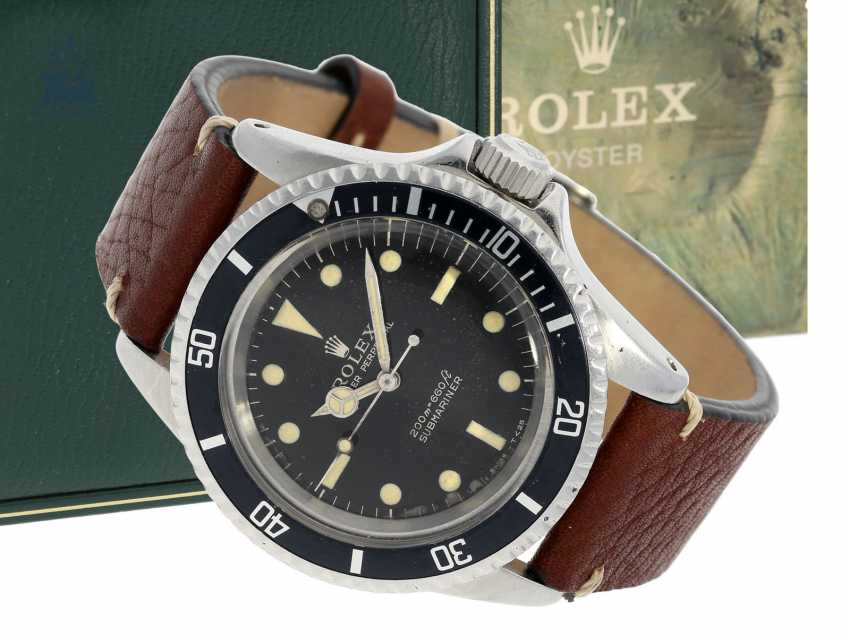 "Watch: early Rolex Submariner ""Meters First"" Dial Ref. 5513, from 1966 with original box and Booklet - photo 1"