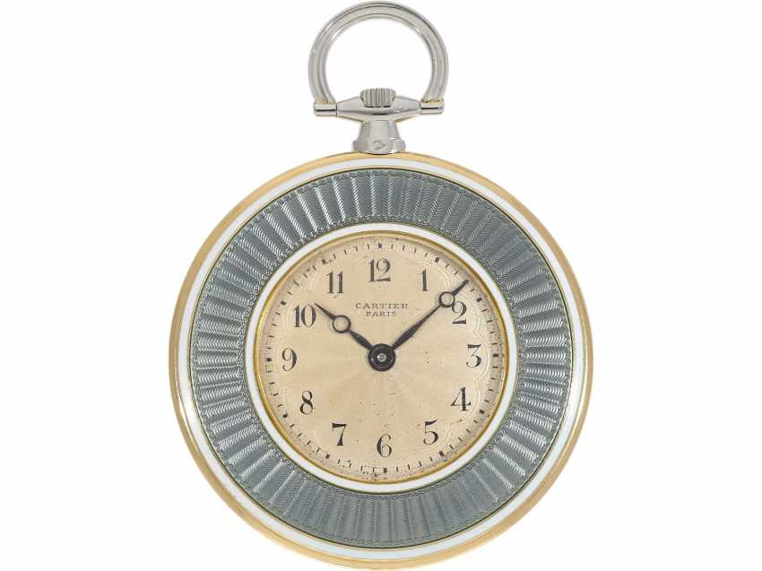 Pocket watch: unique, historically significant Cartier pocket watch with original box, a gift from the English Royal family, under George V, at the same time the Emperor of India, to an Indian Prince-house, including archive information, by Cartier - photo 2