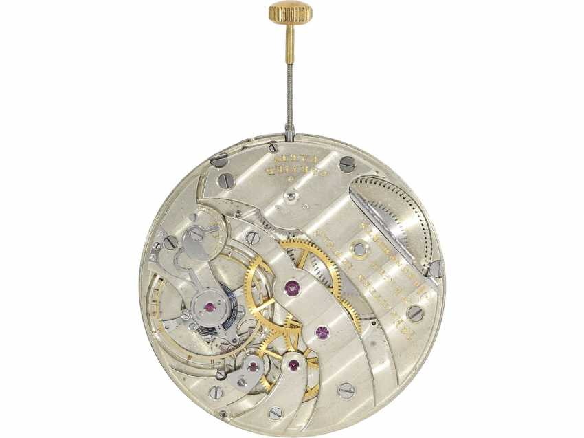 "Pocket watch: extremely rare pocket watch movement in a Cartier ""Eclipse-Double-Dial"" Frackuhr CA. 1920, only 1 copy is known to us! - photo 4"