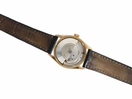 Watch: Rolex Rare Ref. 6085 in pink gold with double signature Rolex for Asprey and a black lacquer dial, approx 1953 - photo 3