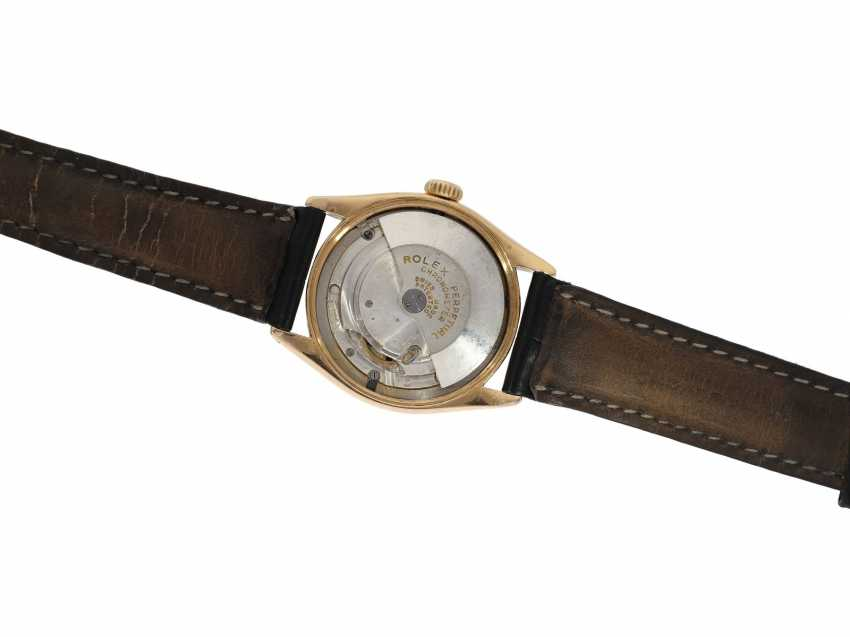 Watch: Rolex Rare Ref. 6085 in pink gold with double signature Rolex for Asprey and a black lacquer dial, approx 1953 - photo 6