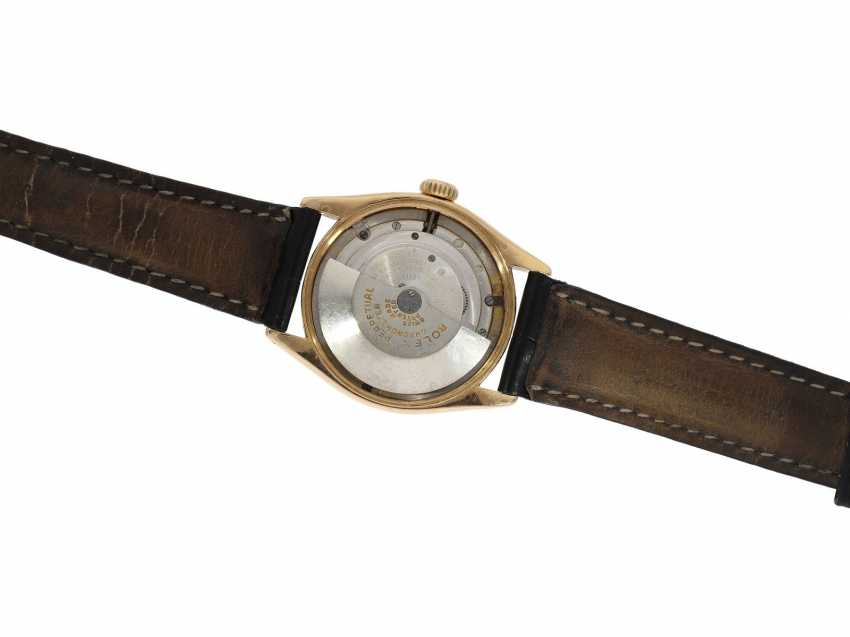 Watch: Rolex Rare Ref. 6085 in pink gold with double signature Rolex for Asprey and a black lacquer dial, approx 1953 - photo 7