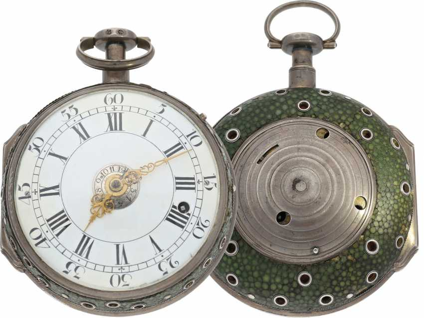 Kutschenuhr: highly complicated and technically elaborate Hungarian Kutschenuhr with quarter-hour striking, quarter-hour repeater and alarm, Nicolaus Koelbel a (Buda)Pest No. 113 (1750-1790) - photo 1
