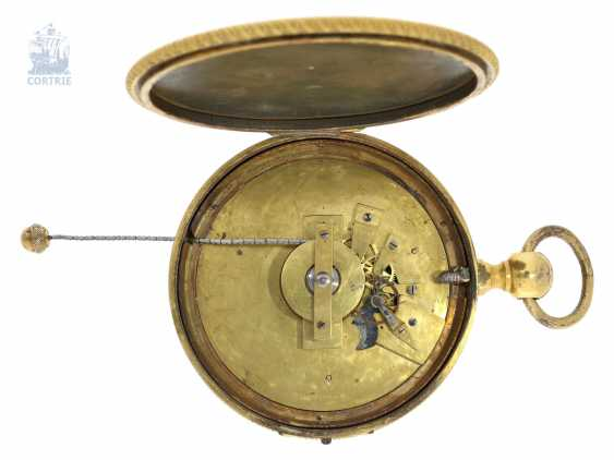 Kutschenuhr/Watch: technically interesting Watch, with a chain lift and a comma-inhibition, a special dial of 2 x 60 minutes and Souscription-Breguet-style hands, Laborie Paris, 1806-1820 - photo 2
