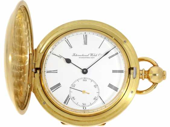 """Pocket watch: extremely rare limited edition IWC """"Cabriolet - Convertible"""" Ref. 5410 with Golden original keys, original box and original papers, No. 250/250, 1979 - photo 9"""